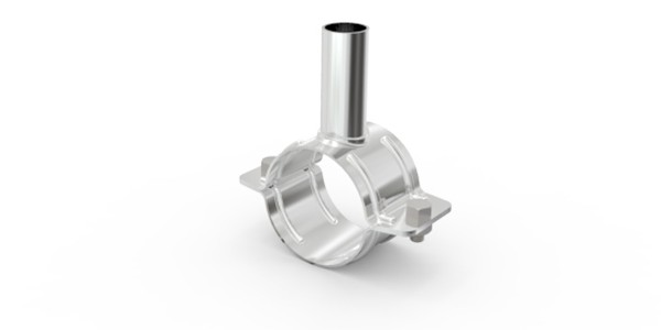 ABRAÇADEIRA INOX C/ TUBO P/ ENTR. LEITE 50 MM – COD 0650010015